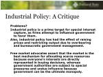 industrial policy a critique