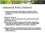 industrial policy defined