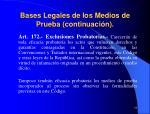 bases legales de los medios de prueba continuaci n