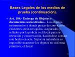 bases legales de los medios de prueba continuaci n21
