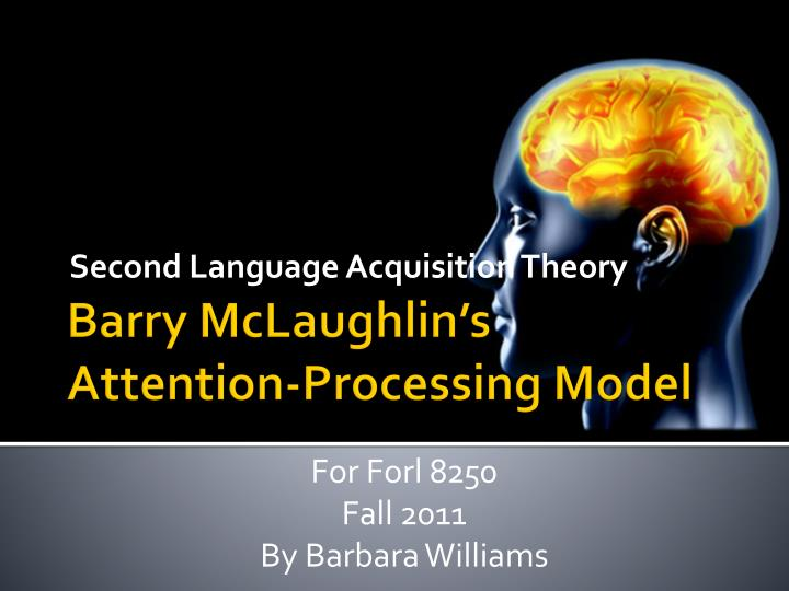second language acquisition theory n.