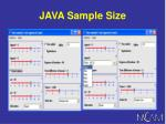 java sample size