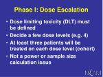 phase i dose escalation
