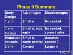 phase ii summary