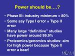 power should be