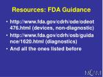 resources fda guidance