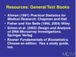 resources general text books