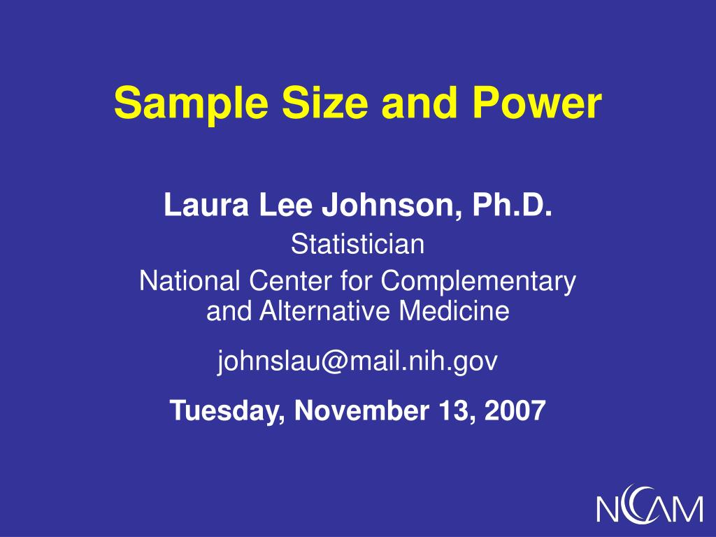 sample size and power l.