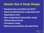 sample size study design