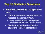top 10 statistics questions104
