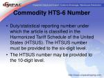 commodity hts 6 number36