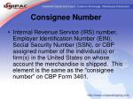 consignee number