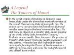 a legend the towers of hanoi