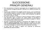 successione principi generali