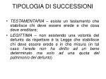 tipologia di successioni