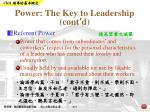 power the key to leadership cont d5