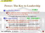 power the key to leadership