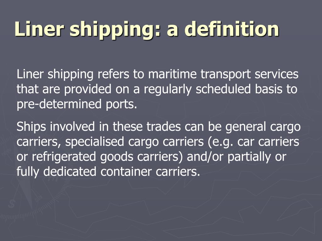 PPT - Co-operation in liner shipping PowerPoint Presentation