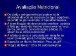 avalia o nutricional