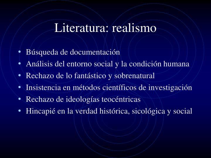 Literatura: realismo