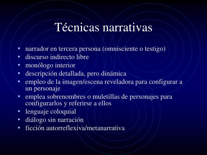 Técnicas narrativas