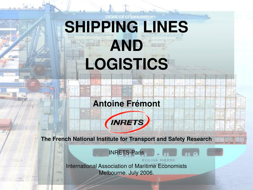shipping lines and logistics l.