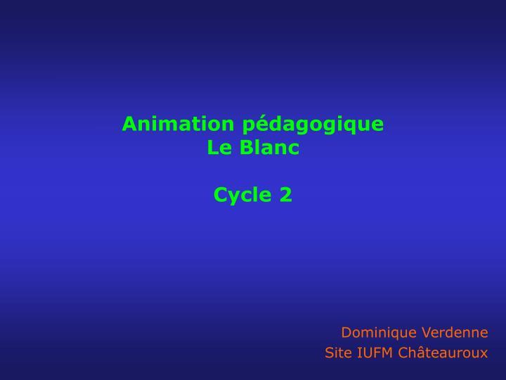 animation p dagogique le blanc cycle 2 n.