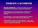 exercice a accomplir