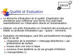 qualit et evaluation