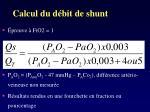 calcul du d bit de shunt2