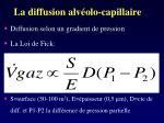 la diffusion alv olo capillaire1