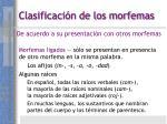 clasificaci n de los morfemas16