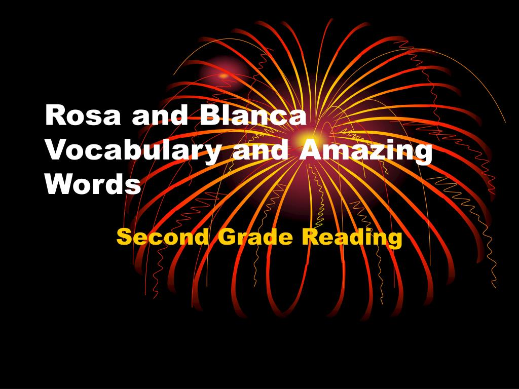 rosa and blanca vocabulary and amazing words l.