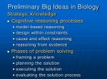 preliminary big ideas in biology18