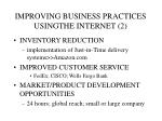 improving business practices usingthe internet 2