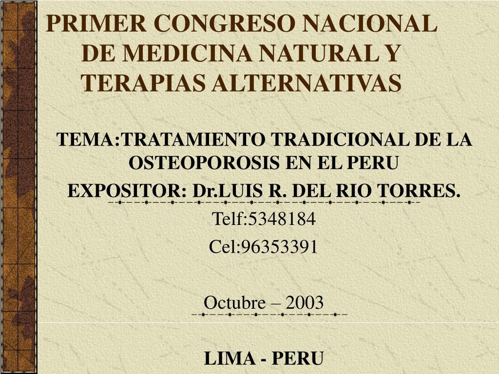 primer congreso nacional de medicina natural y terapias alternativas l.