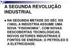 a segunda revolu o industrial