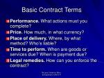 basic contract terms