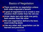 basics of negotiation