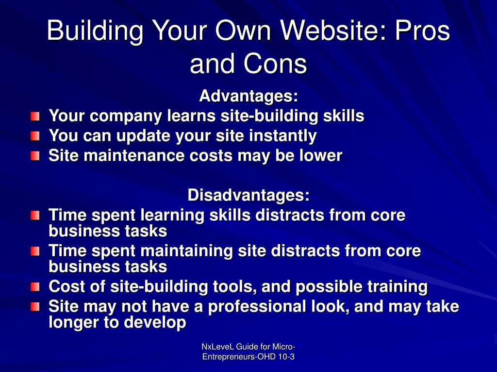 Building Your Own Website: Pros and Cons