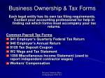 business ownership tax forms