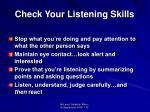 check your listening skills