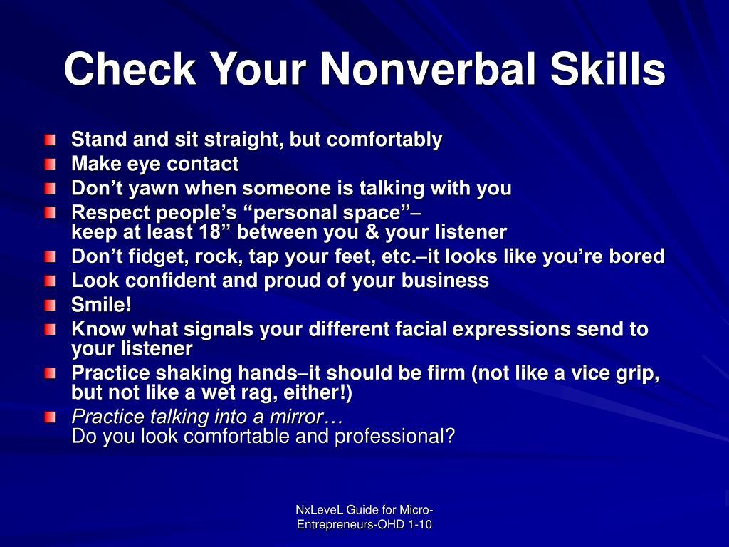 Check Your Nonverbal Skills
