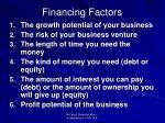 financing factors