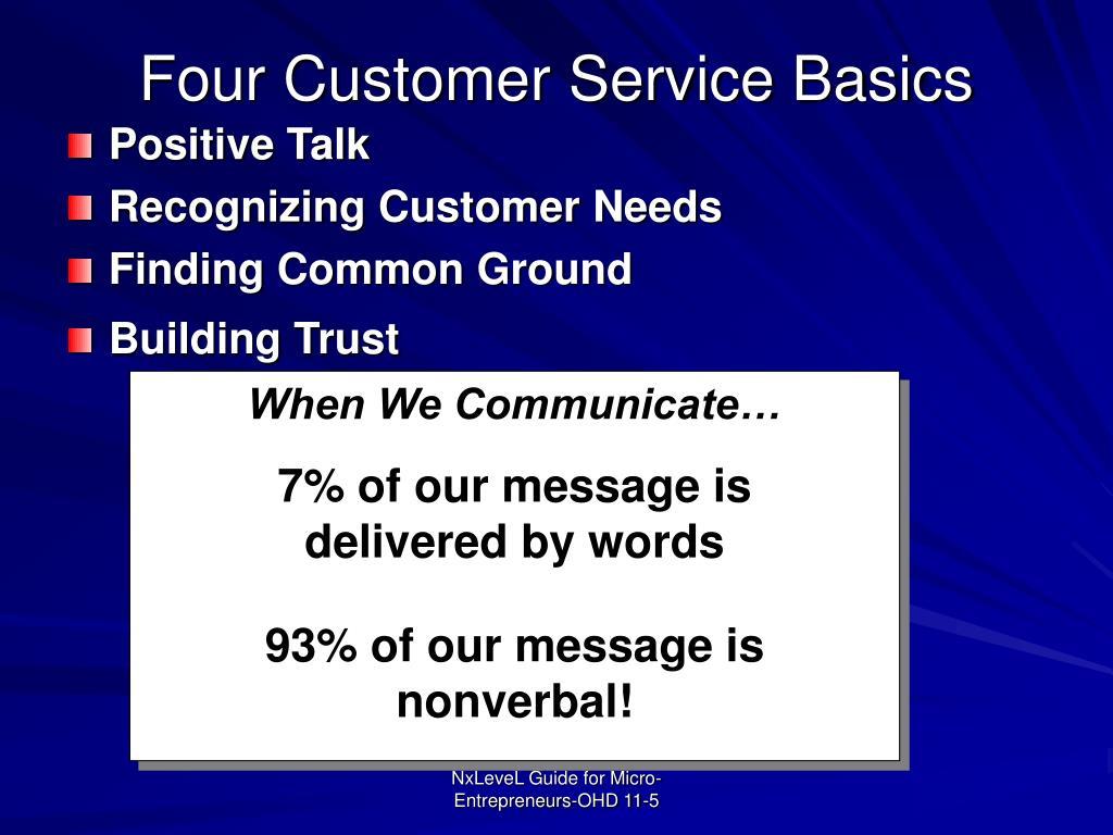 Four Customer Service Basics