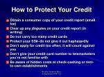 how to protect your credit