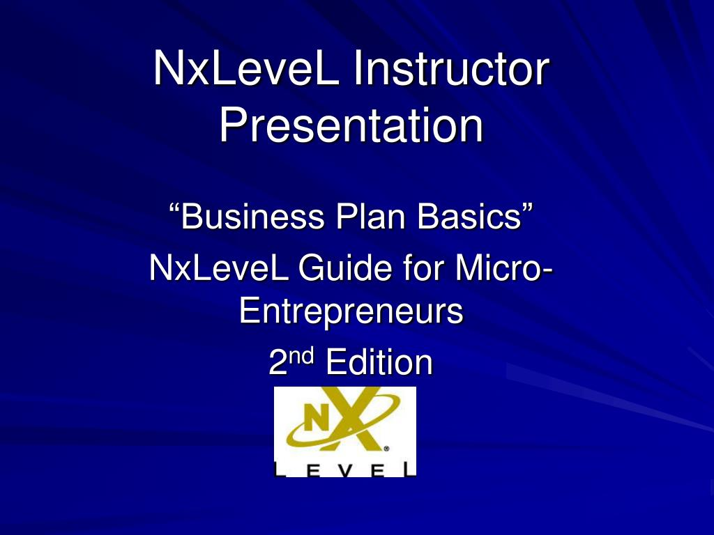 nxlevel instructor presentation l.