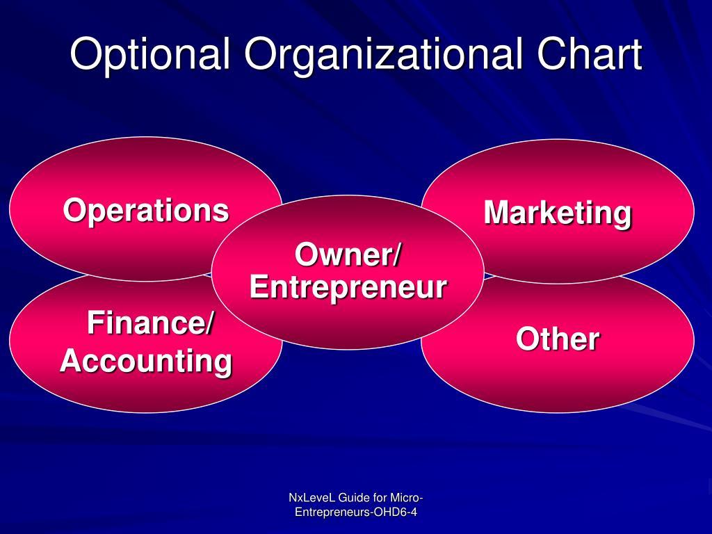Optional Organizational Chart