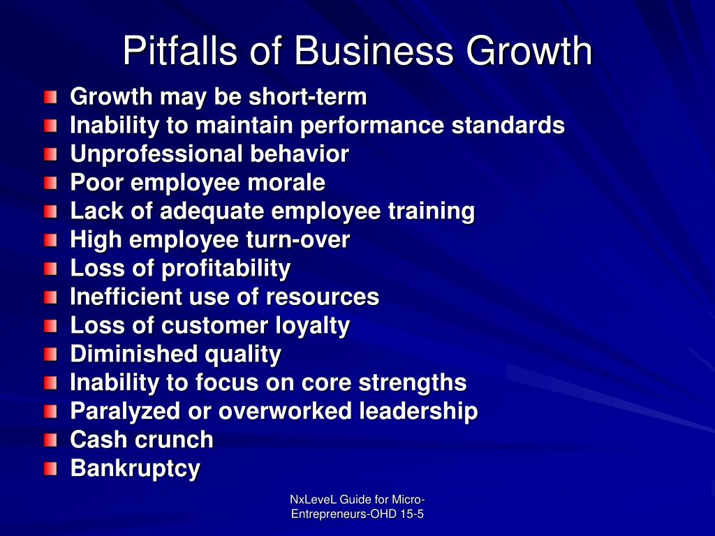 Pitfalls of Business Growth