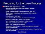 preparing for the loan process